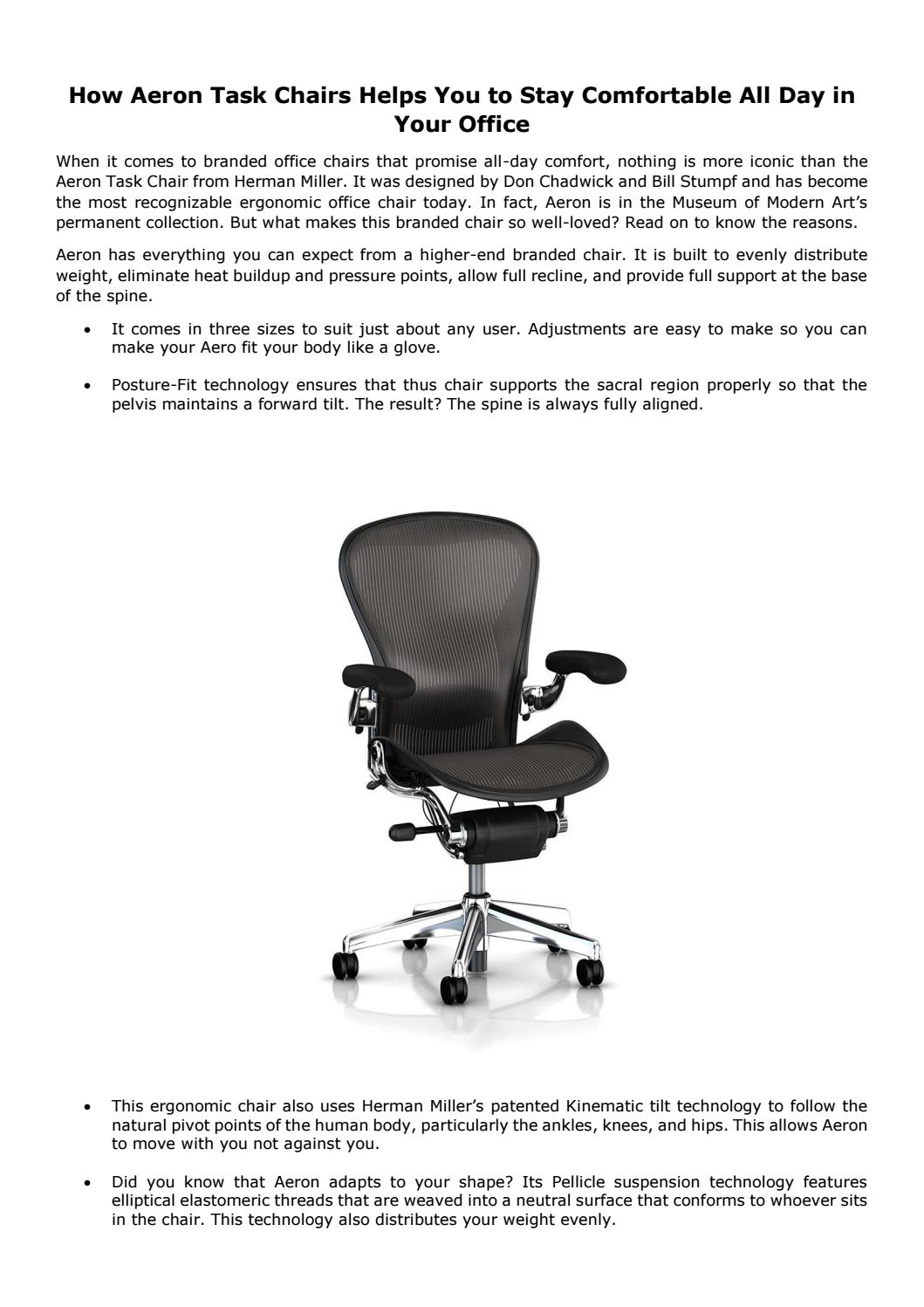Body Built Chairs How Aeron Task Chairs Helps You To Stay Comfortable All Day In