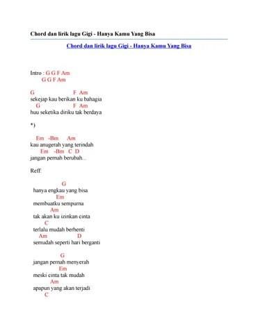 Ku Tak Akan Menyerah Chord : menyerah, chord, Chord, Lirik, Hanya, Issuu