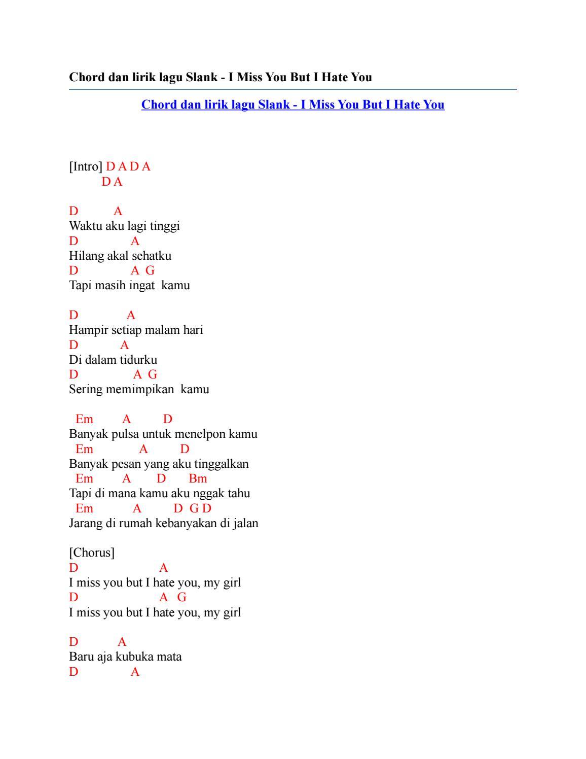 Chord Slank Terlalu Pahit : chord, slank, terlalu, pahit, Kunci, Gitar, Slank