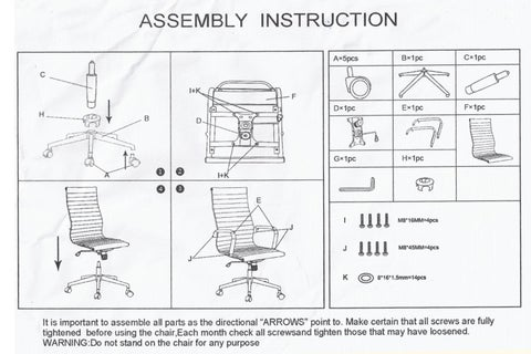 Manual de Montagem Cadeira Office Eames Presidente by