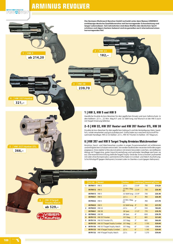 Arminius Hw 357 Target Trophy Combat 357 Magnum Revolver – Home