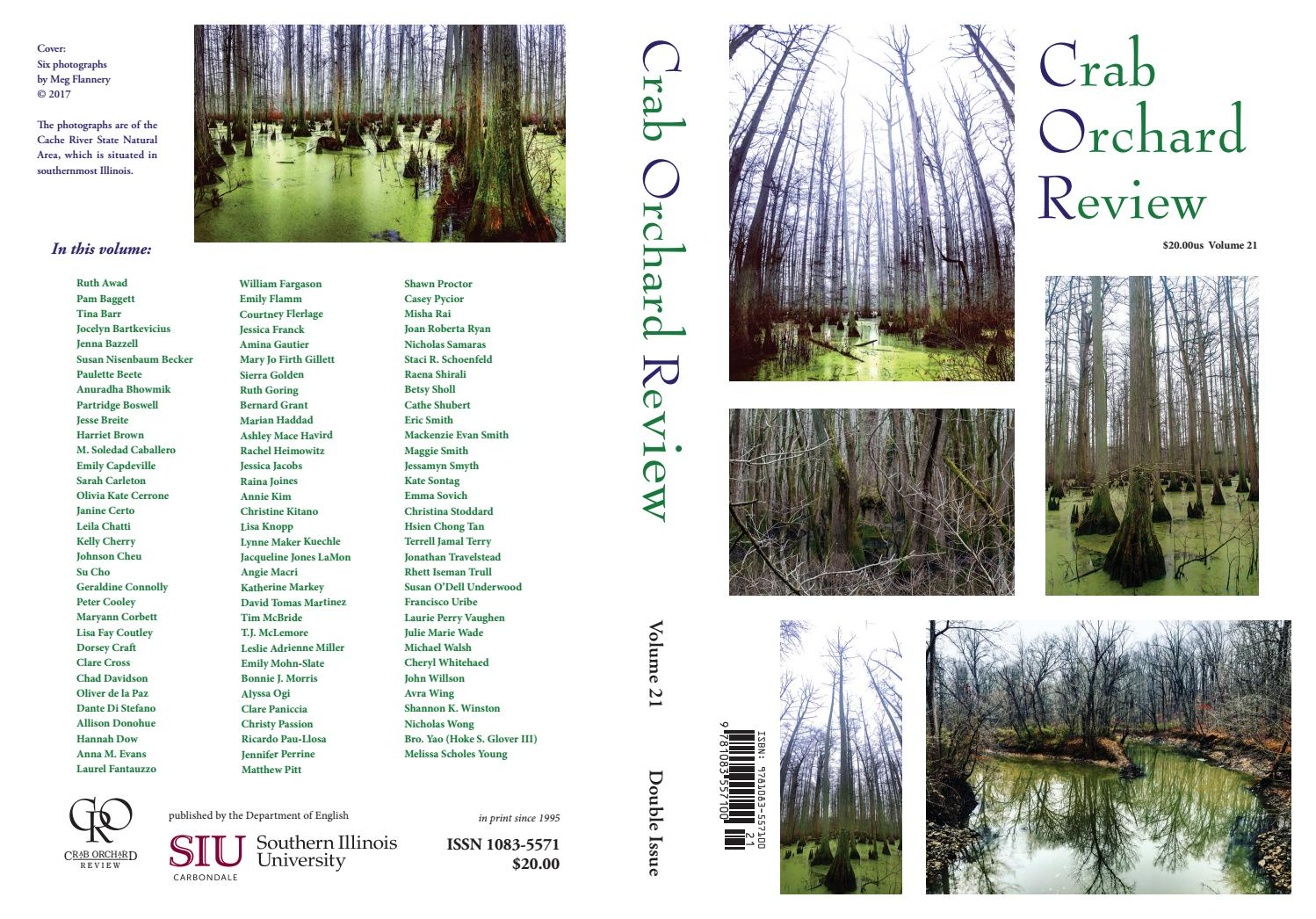 hight resolution of crab orchard review vol 21 double issue 2017 by crab orchard review issuu