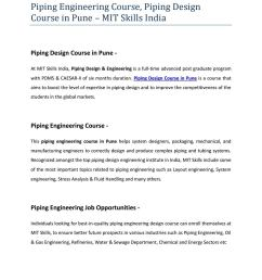 piping engineering course piping design course in pune mit skills india by mit skills pune issuu [ 1156 x 1496 Pixel ]