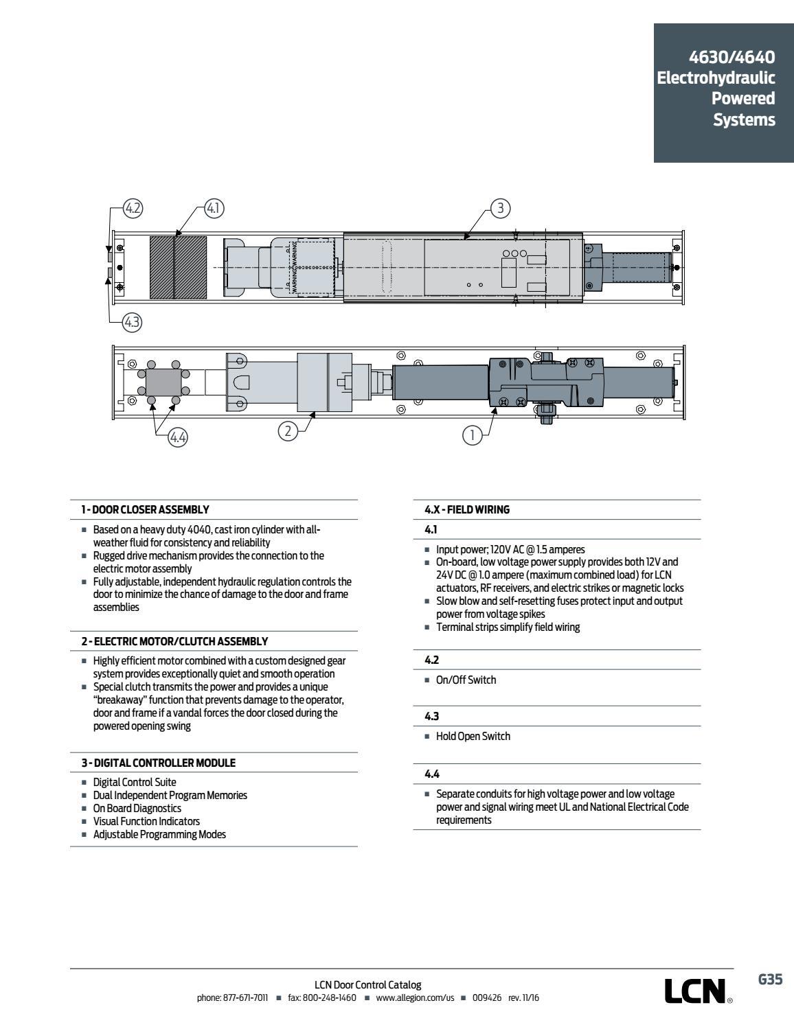 hight resolution of lcn door controls
