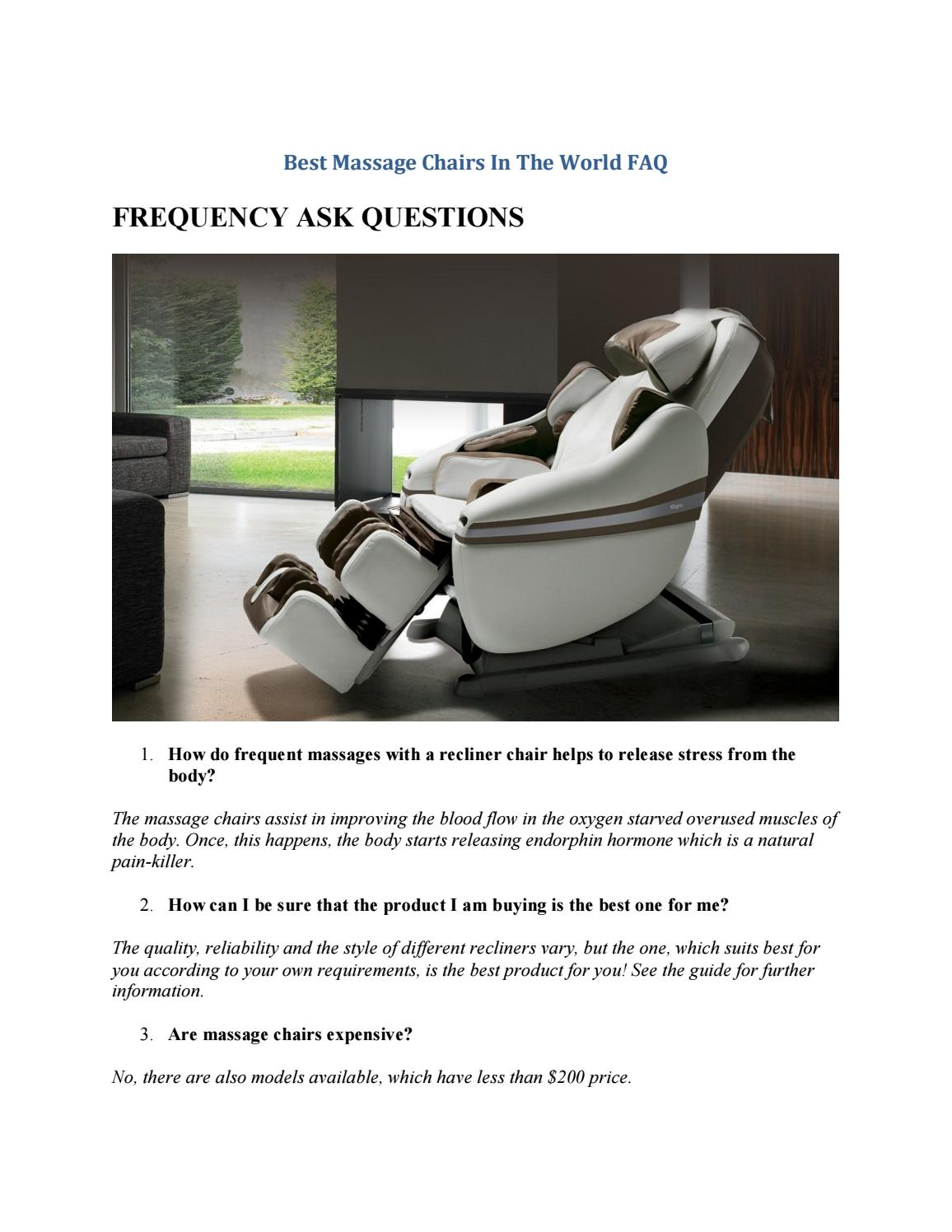 Best Massage Chair In The World Best Massage Chair Shiatsu Zero Gravity By Wellness Geeky Issuu