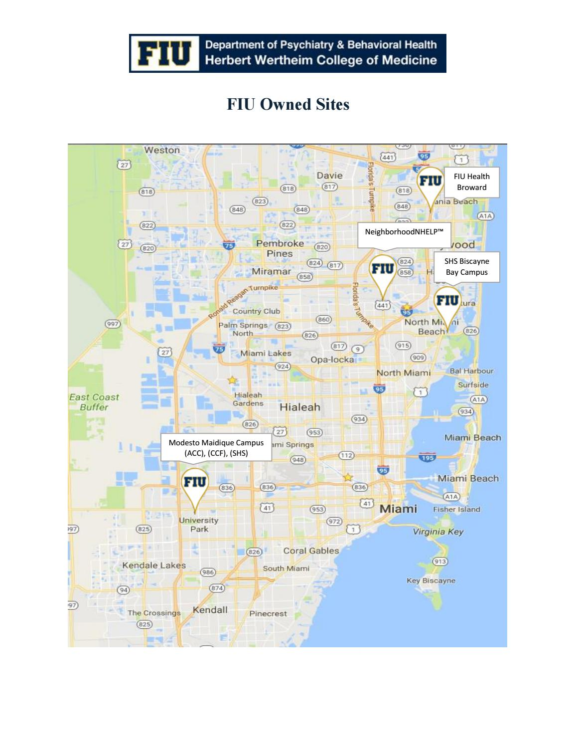 Fiu Map Mmc : Biscayne, Campus, Location, Catalog, Online