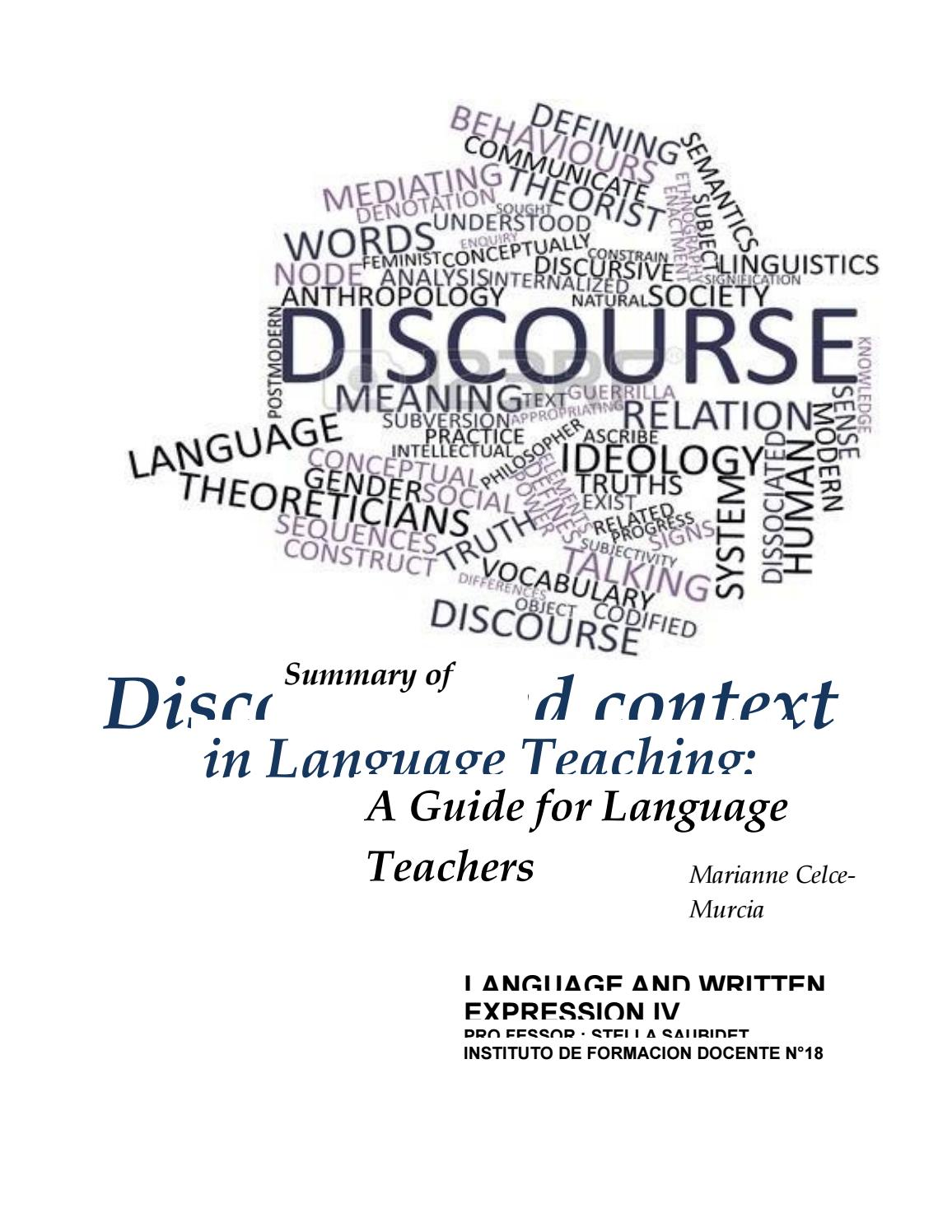 Discourse and Context in Language Teaching: A Guide for