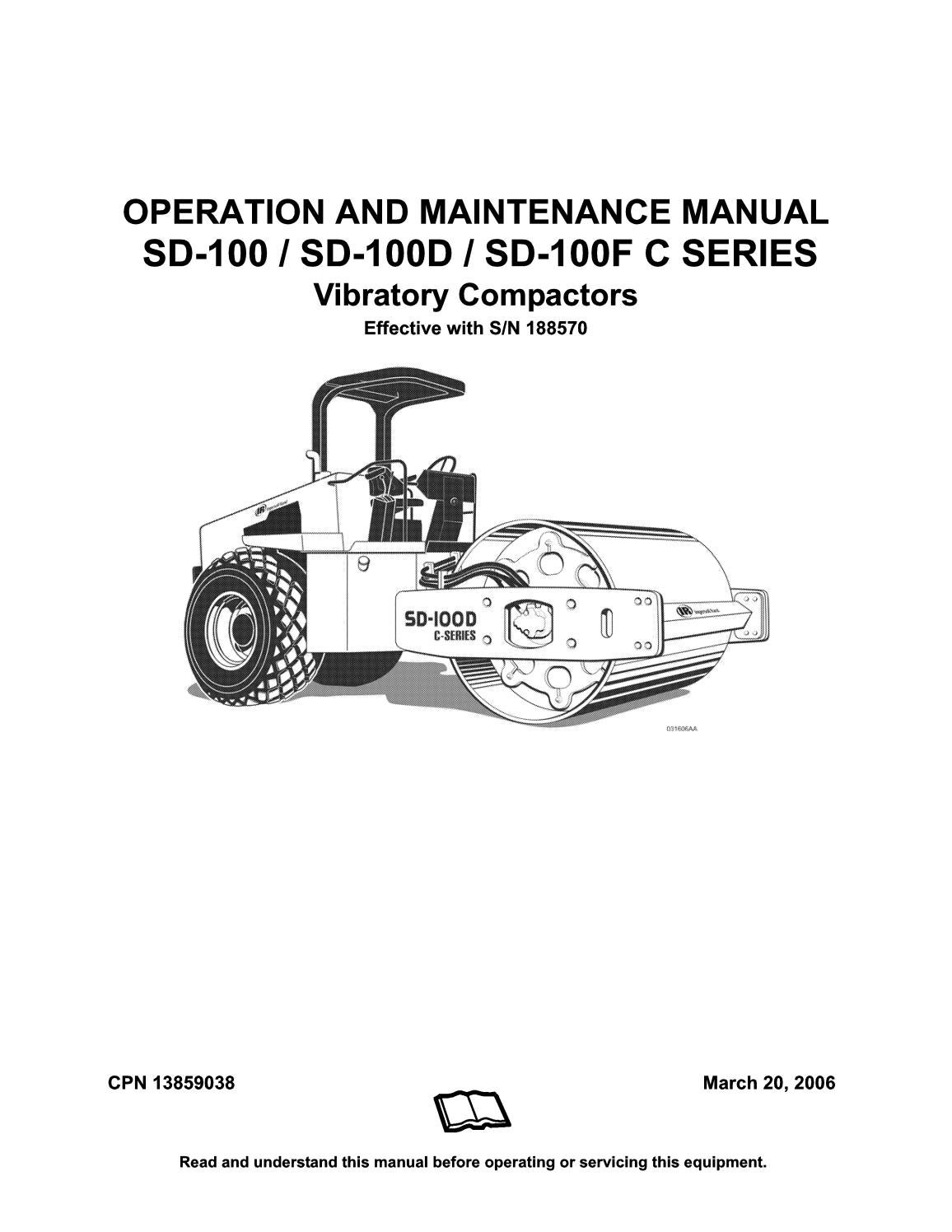Ingersoll rand sd100 manual de mantenimiento y operacion