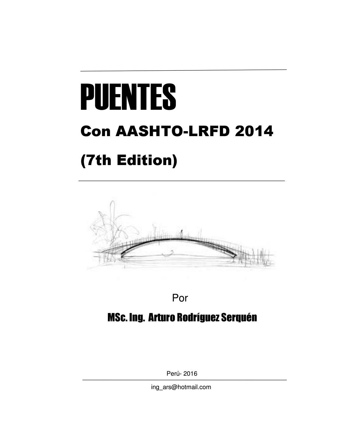 PUENTES Con AASHTO-LRFD 2014 ing arturo rodríguez serquén