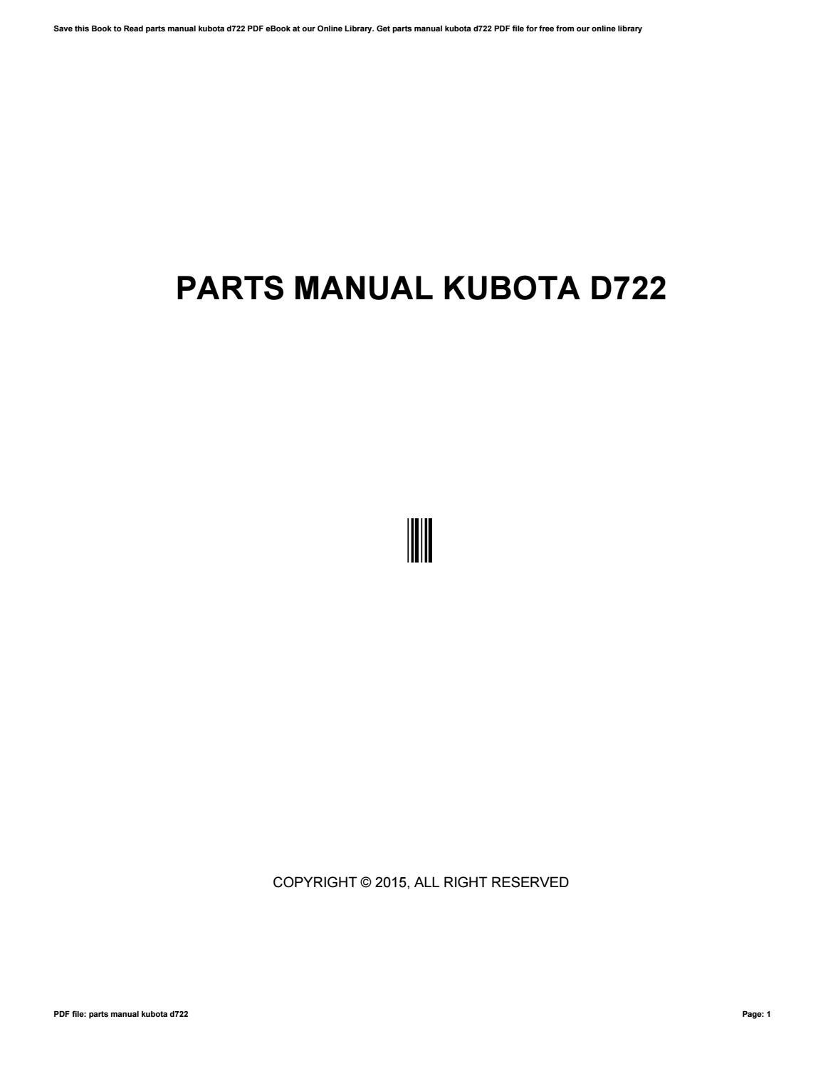kubota g2160 wiring diagram bmw e38 stereo mnl 7679 parts manual for d722 2019 ebook library