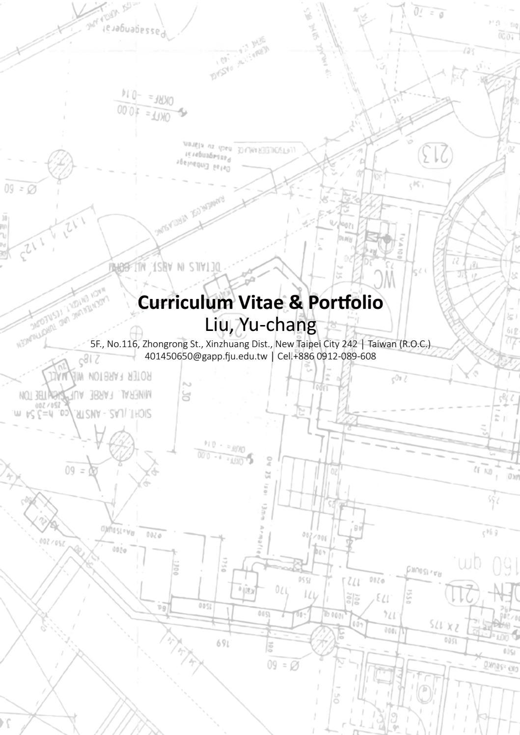 landscape architecture Curriculum vitae & portfolio by Yu