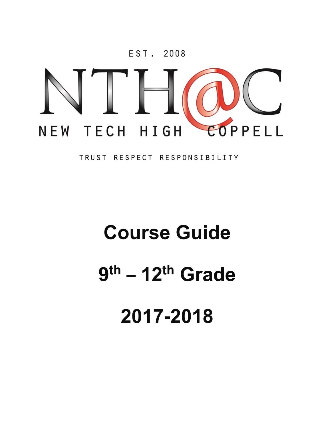 NTH@C 2017-2018 Course Guide by New Tech High @ Coppell