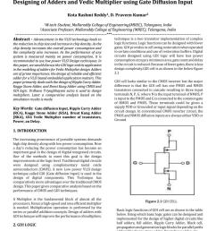 designing of adders and vedic multiplier using gate diffusion input by irjet journal issuu [ 1059 x 1497 Pixel ]