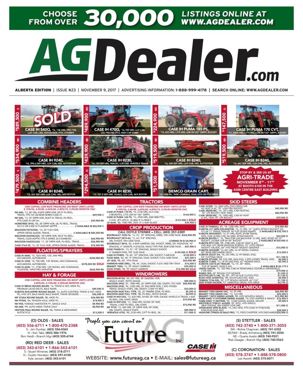 medium resolution of wheel amp deal alberta november 9 2017 by farm business communications issuu