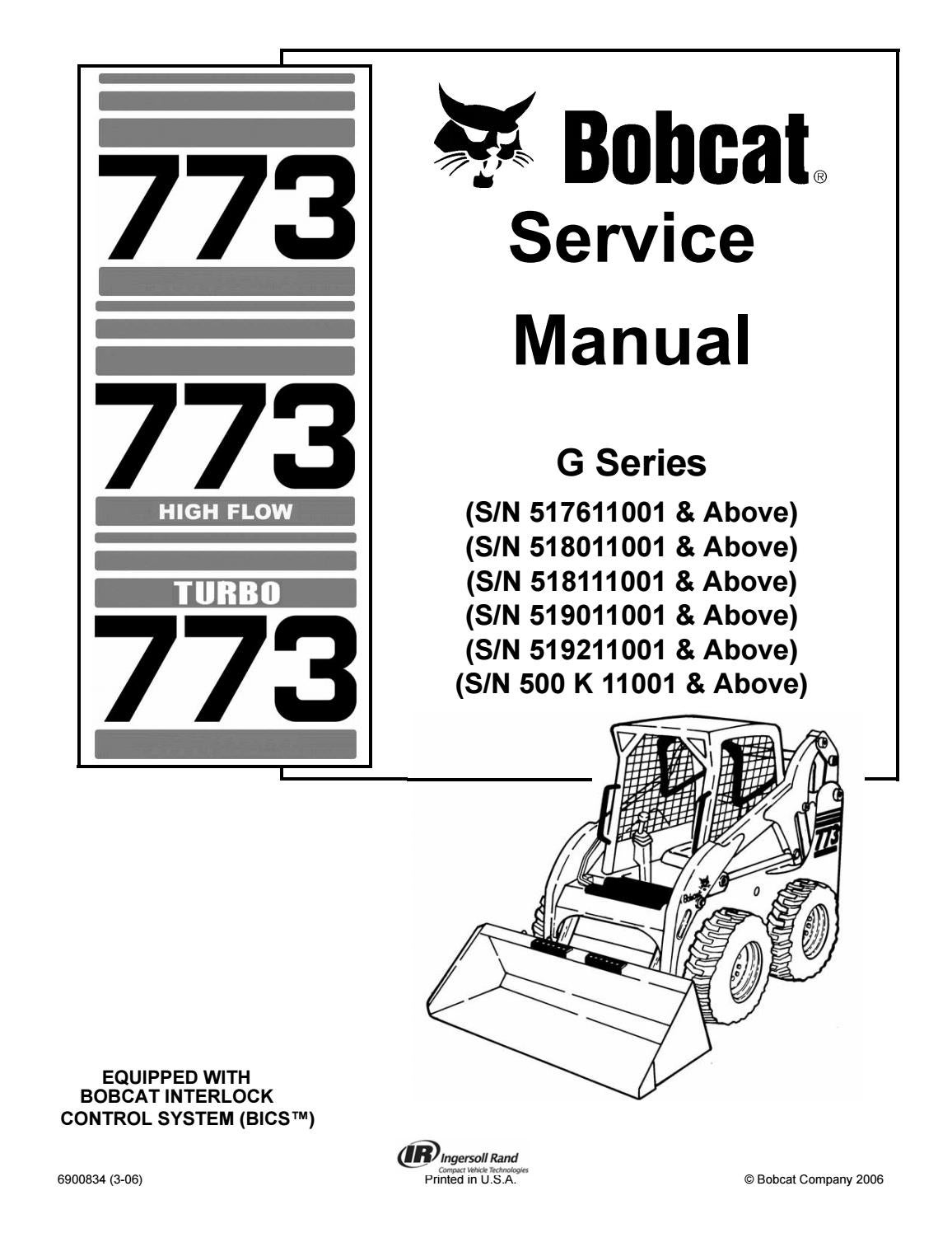 Bobcat 773 service repair manual download by manualtrucks