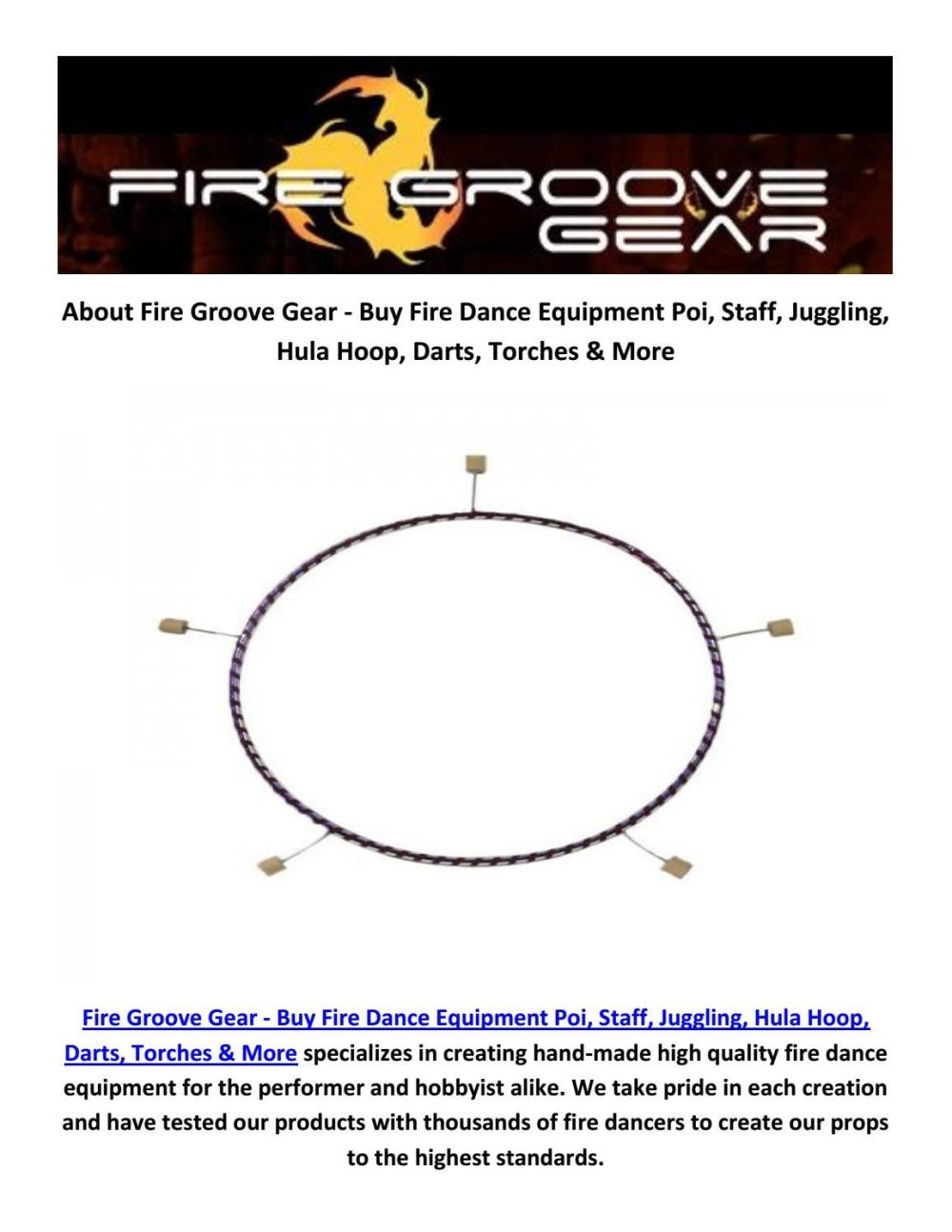 medium resolution of buy online fire hoop at fire groove gear