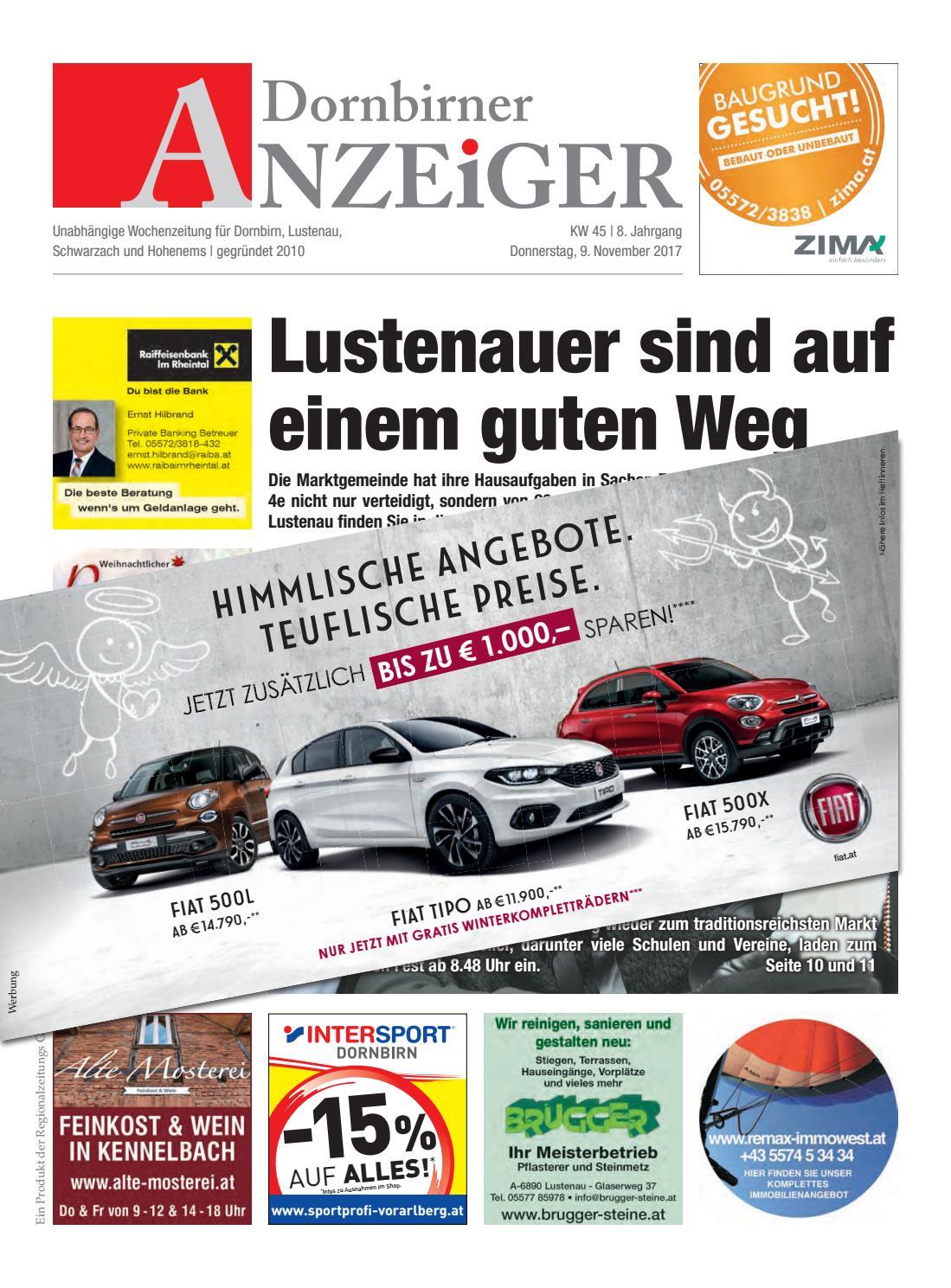 Dornbirner%20Anzeiger%2045 By Regionalzeitungs Gmbh - Issuu