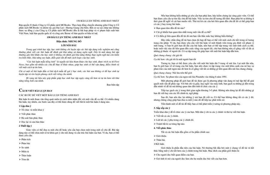 [Textbook] 150 bài luận tiếng anh hay nhất - The Windy [Ship Pdf - nguyenthanhtuteacher@gmail.com] by Dạy Kèm Quy Nhơn Official - issuu
