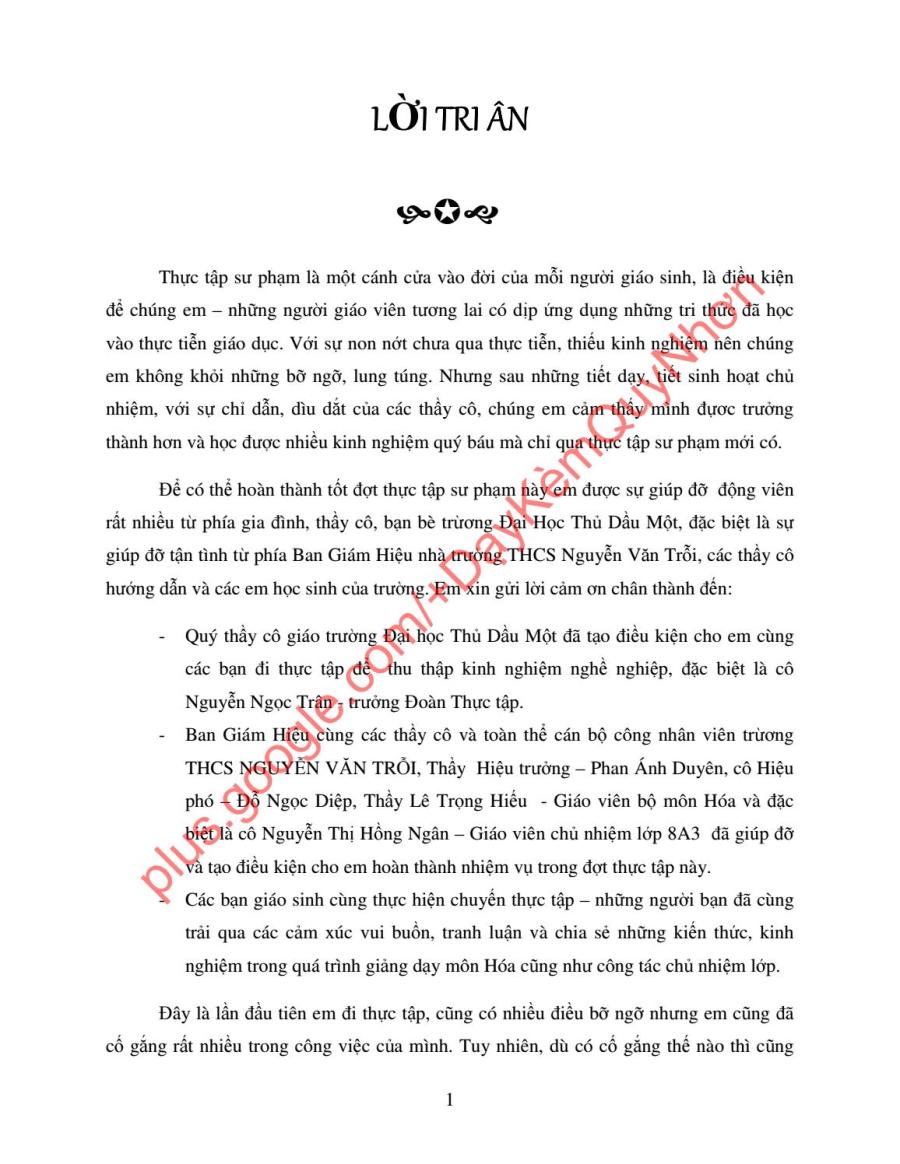 BÁO CÁO THU HOẠCH ĐỢT THỰC TẬP SƯ PHẠM NĂM 3 - KẾ HOẠCH CÔNG TÁC CHỦ NHIỆM - LỚP 8A3... by Dạy Kèm Quy Nhơn Official - issuu