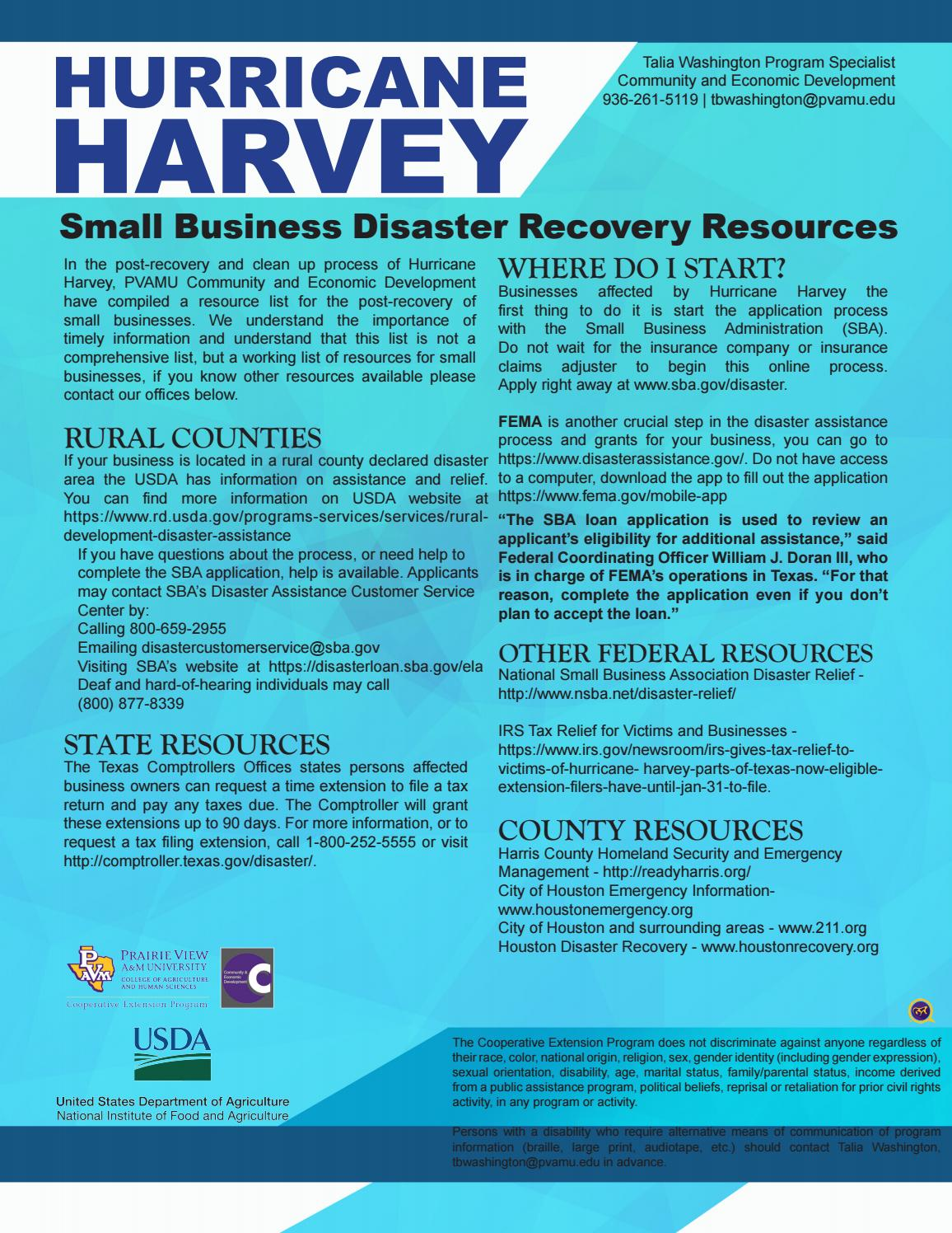 Disaster Recovery Specialist Small Business Disaster Recovery Resources By Pvamucahs Issuu