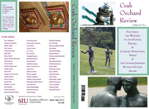 Crab Orchard Review Vol 17 No 1 WS 2012 by Crab Orchard