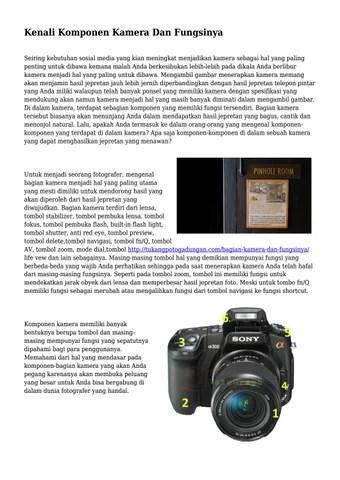 Bagian Kamera Dslr Dan Fungsinya : bagian, kamera, fungsinya, Kenali, Komponen, Kamera, Fungsinya..., Kunciteknoarea, Issuu