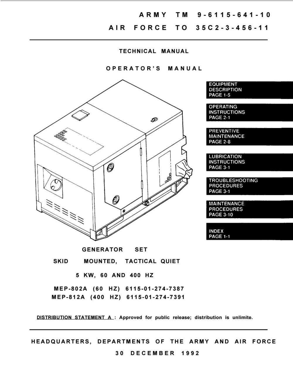 medium resolution of mep 802a 60 hz 6115 01 274 7387 mep 812a 400 hz 6115 01 274 7391 operator manual by power generation issuu