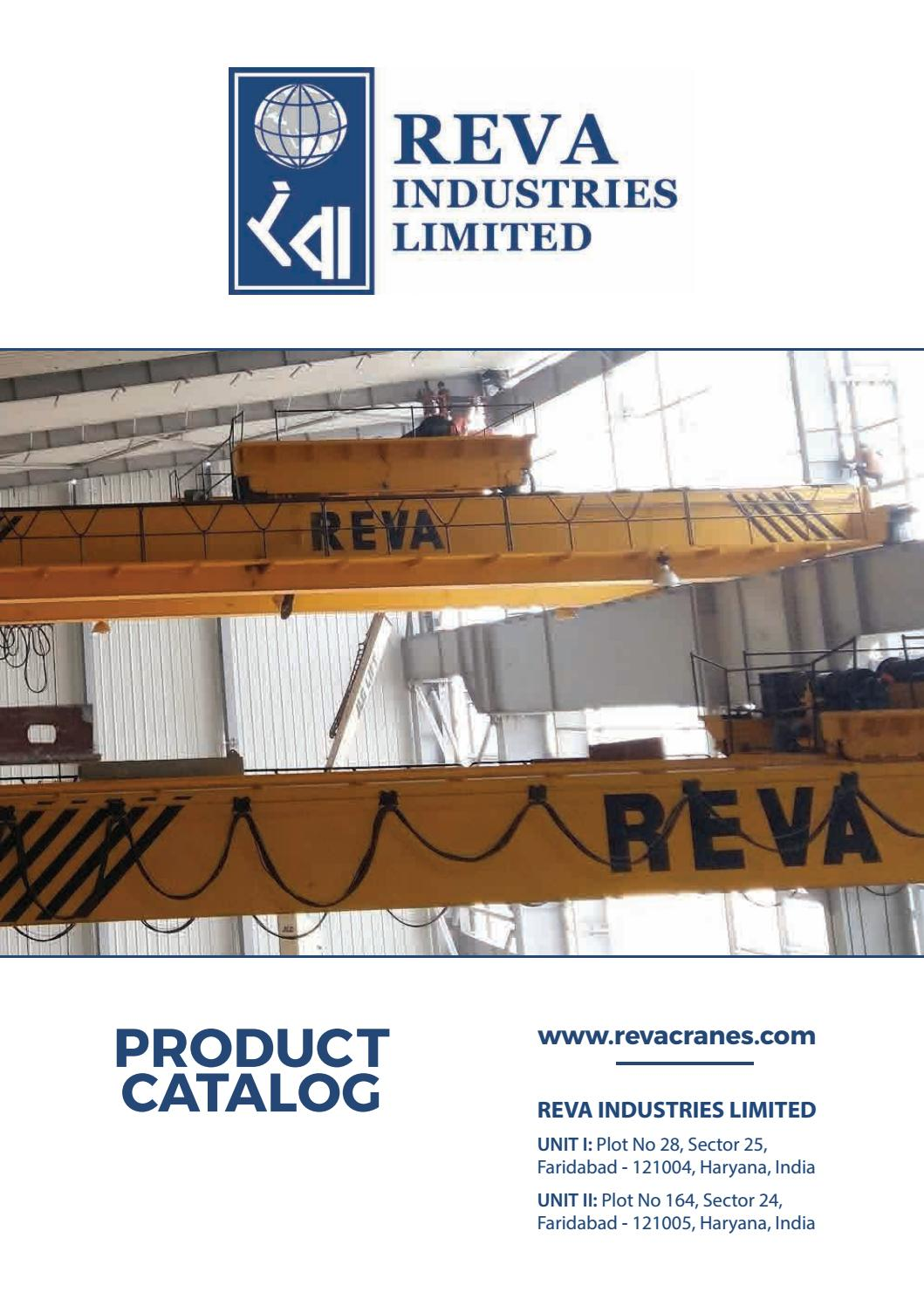hight resolution of reva eot cranes and electric hoist wire rope manufacturers in faridabad