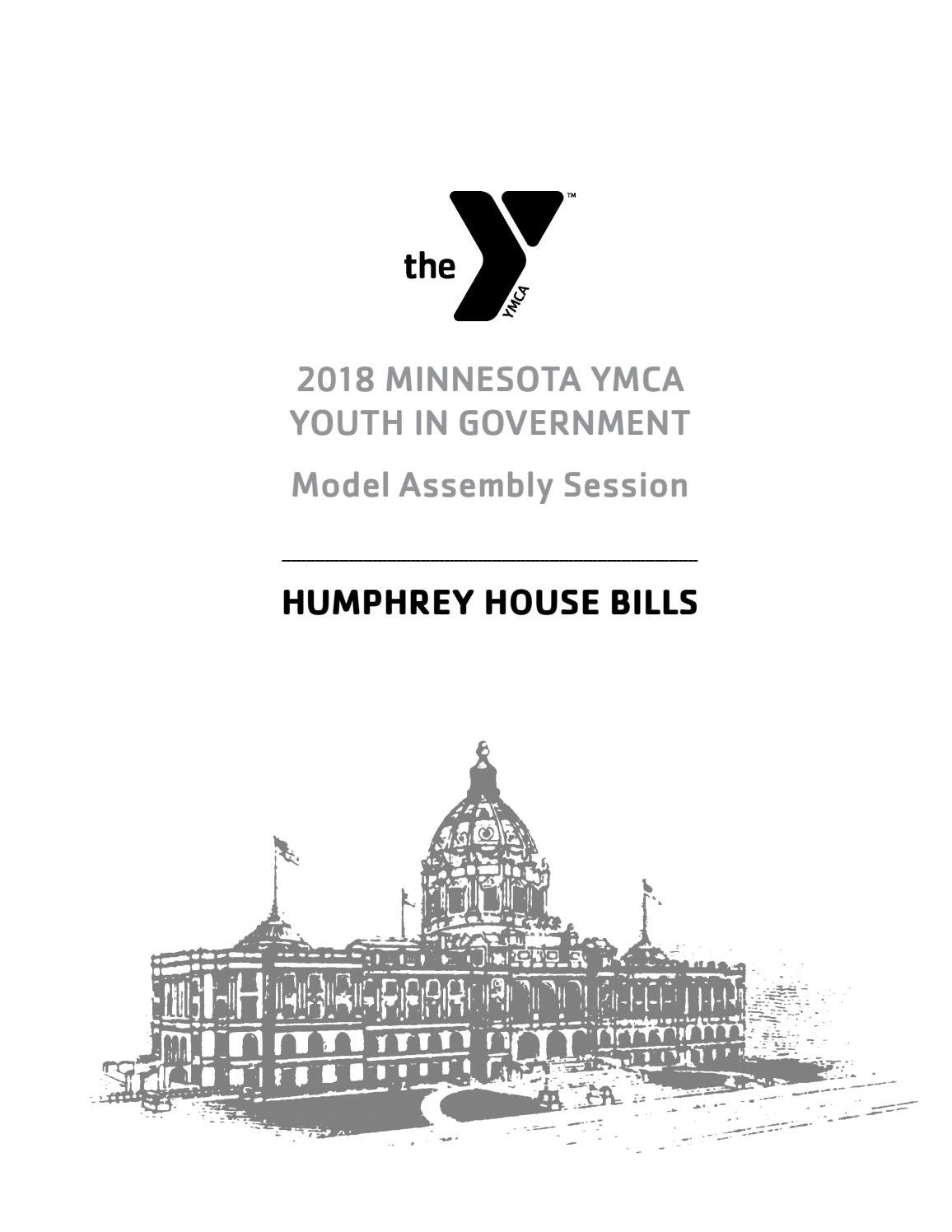2018 Humphrey House Bills by Minnesota YMCA Youth in