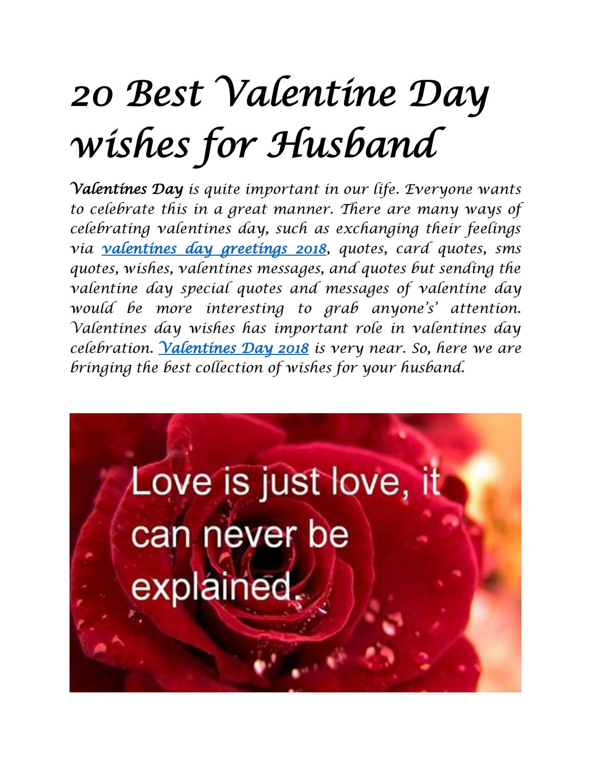 20 best valentine day wishes for husband by Wishes Quotes - Issuu