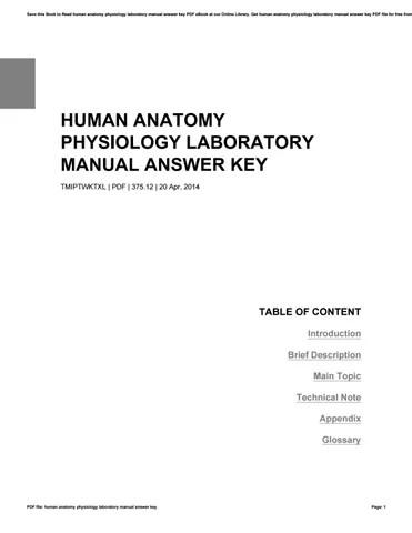 Human anatomy physiology laboratory manual answer key by
