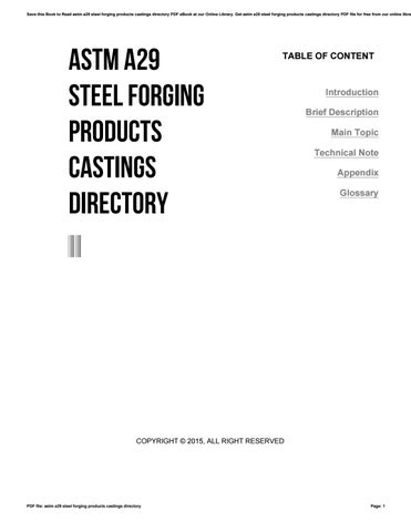 Astm a29 steel forging products castings directory by