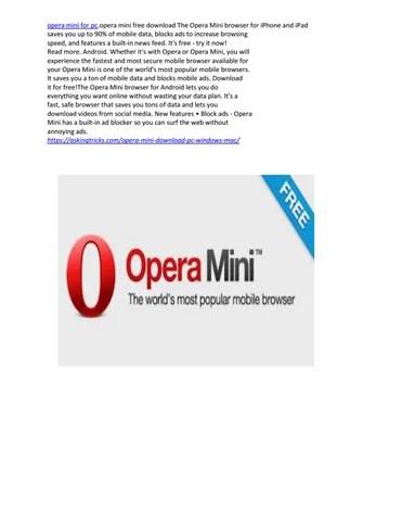 Opera Mini For Pc Online : opera, online, Opera, Kristzunsrd, Issuu