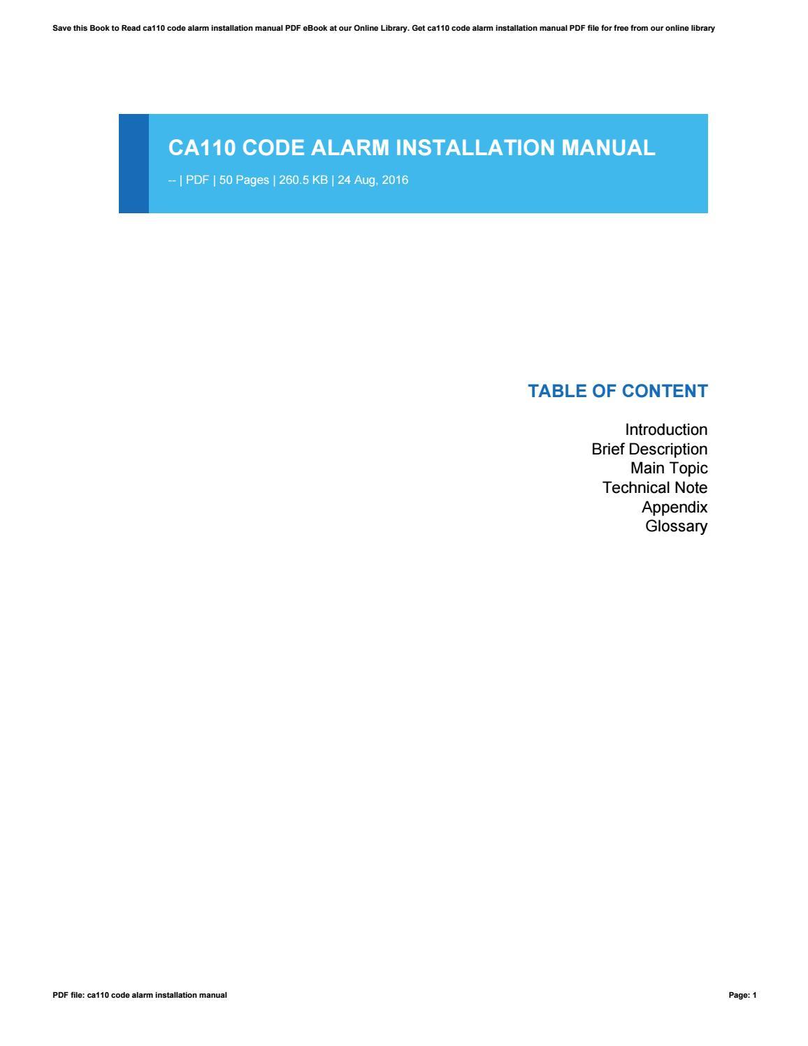 code alarm ca1051 wiring diagram healthy plate wrg 5568 ca110 installation manual 2019 ebook library