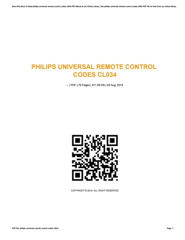 How To Program A Philips Universal Remote Cl034