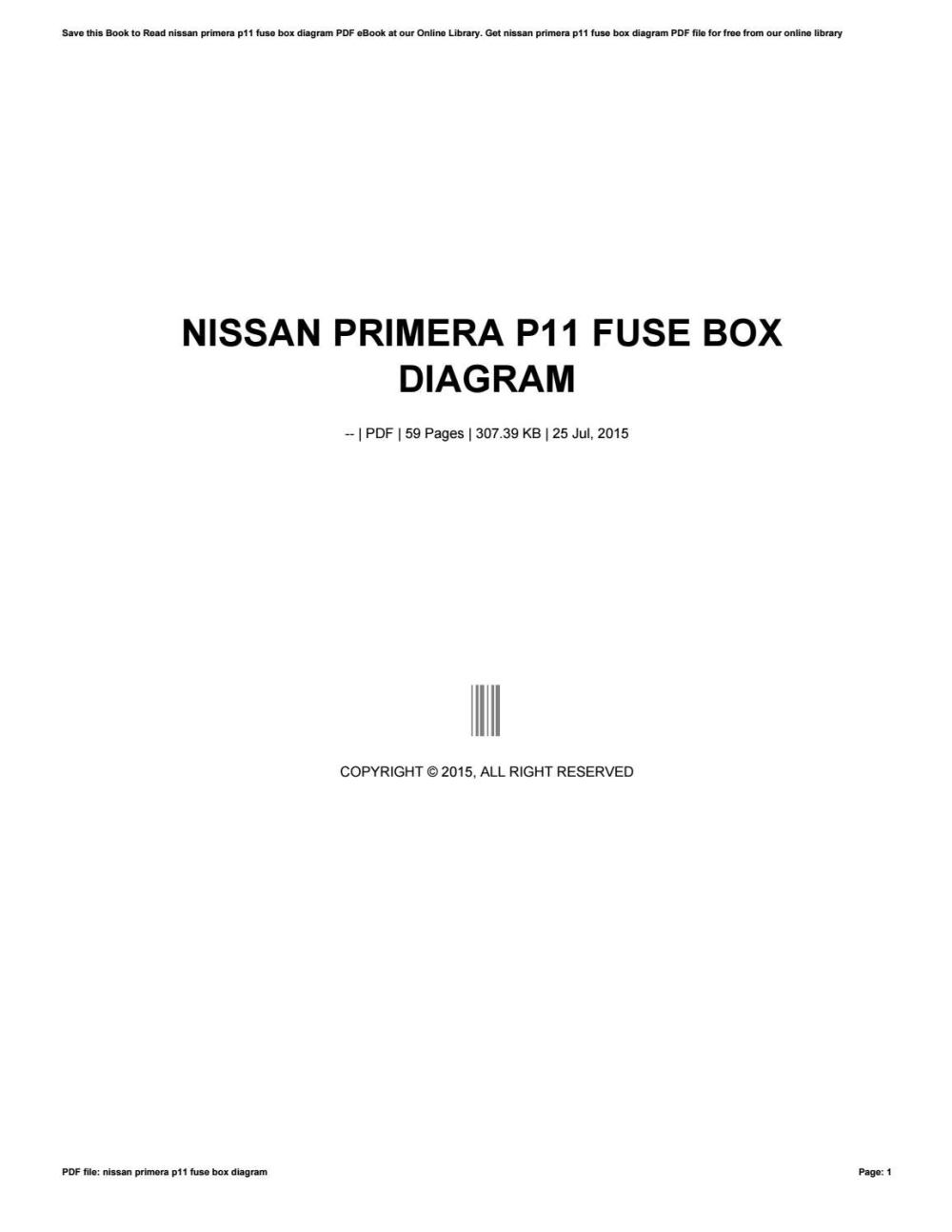 medium resolution of nissan primera fuse box diagram