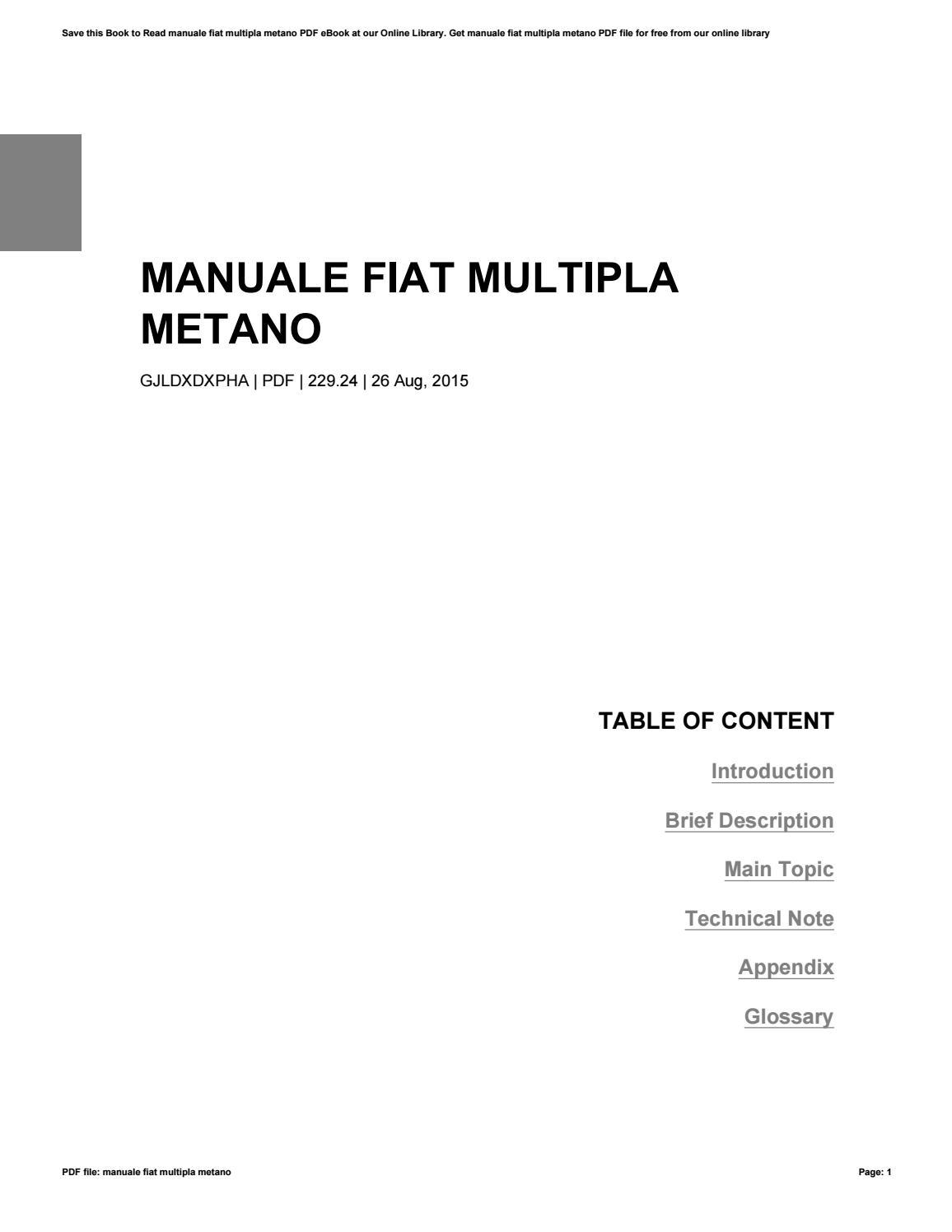 manuale fiat tipo ebook