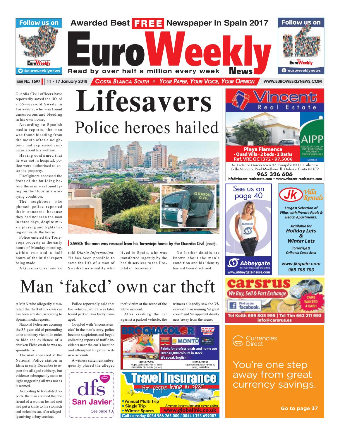 Muebles En Almoradi Euro Weekly News Costa Blanca South 11 17 Jan 2018 Issue 1697