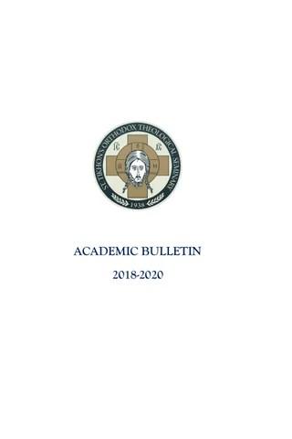 Academic Bulletin 2018-2020 by St. Tikhon's Orthodox