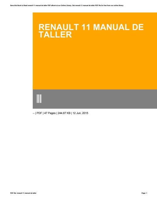 small resolution of renault 11 wiring diagram