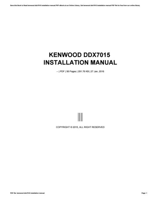 small resolution of kenwood ddx7015 installation manual by mailfs108 issuu
