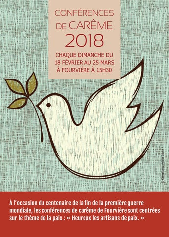 Heureux Les Artisans De Paix : heureux, artisans, Flyer, Conferences, Carême, Print, Association, Diocésaine, Issuu