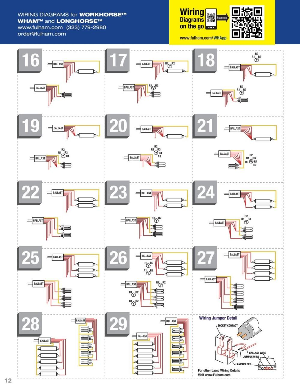 medium resolution of fulham wiring diagrams lamp compatibility chart by fulham co inc issuu