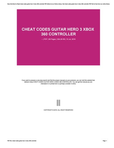 Guitar Hero 3 Unlock Everything : guitar, unlock, everything, Cheat, Codes, Guitar, Controller, Issuu