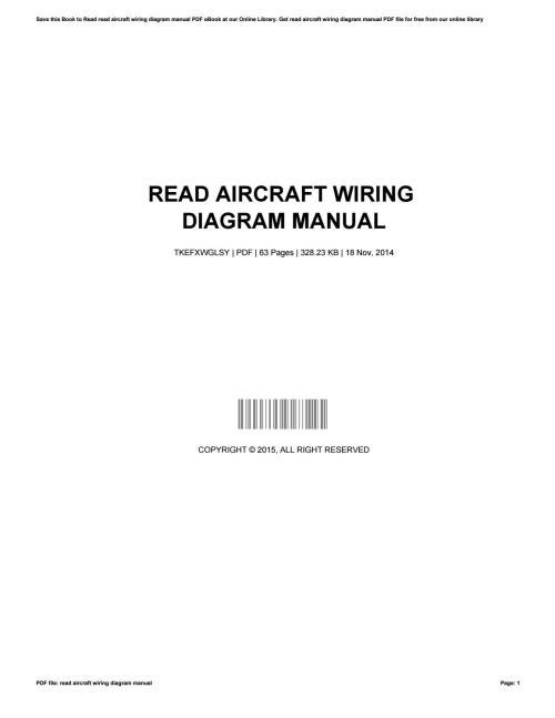 small resolution of aircraft wiring diagram manual