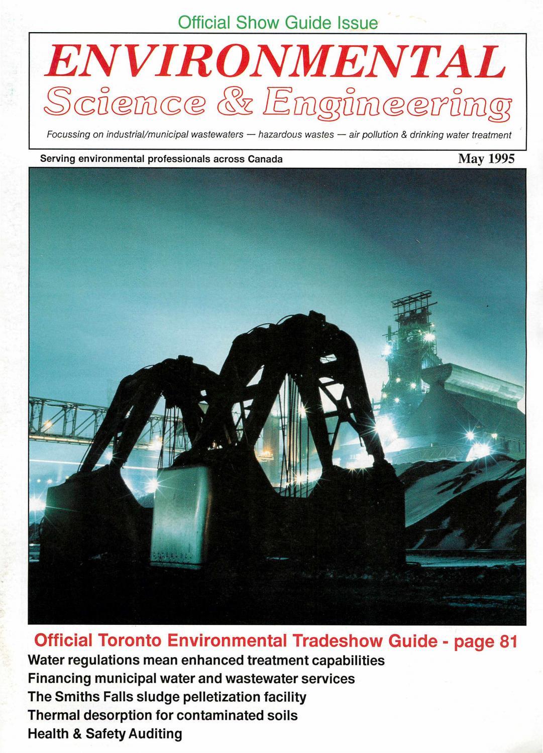 Environmental Science & Engineering Magazine (Esemag) May 1995 By  Environmental Science And Engineering Magazine - Issuu