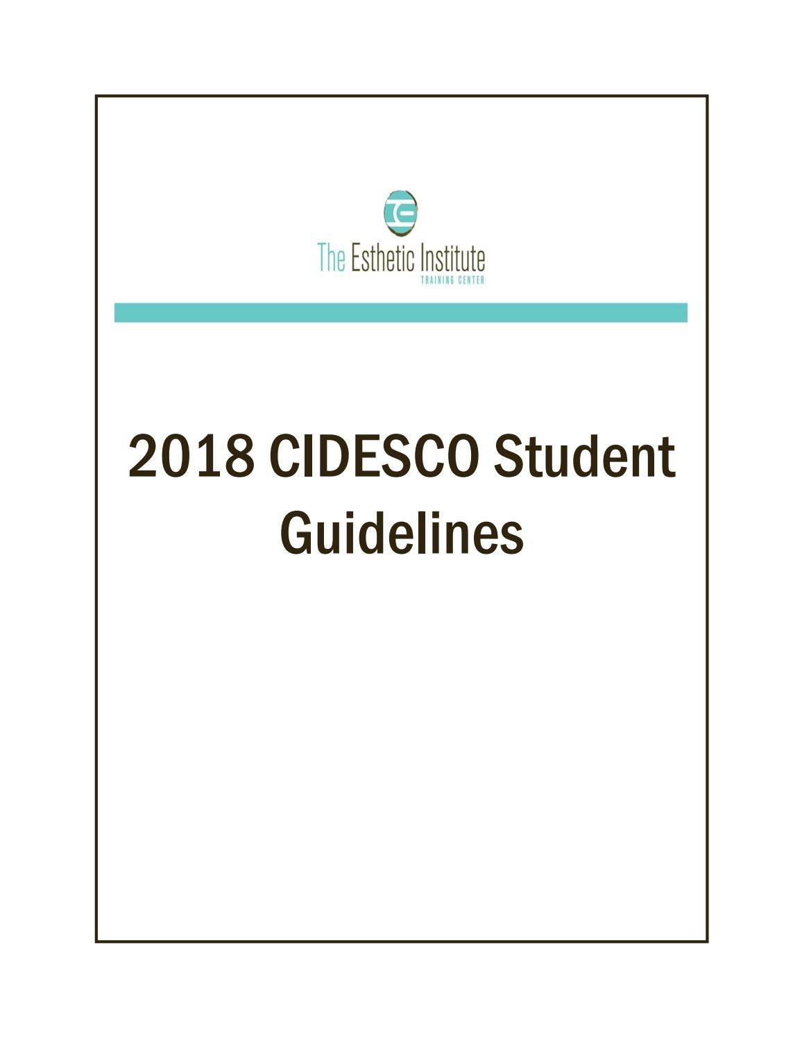 Tei student handbook 2018 by The Esthetic Institute