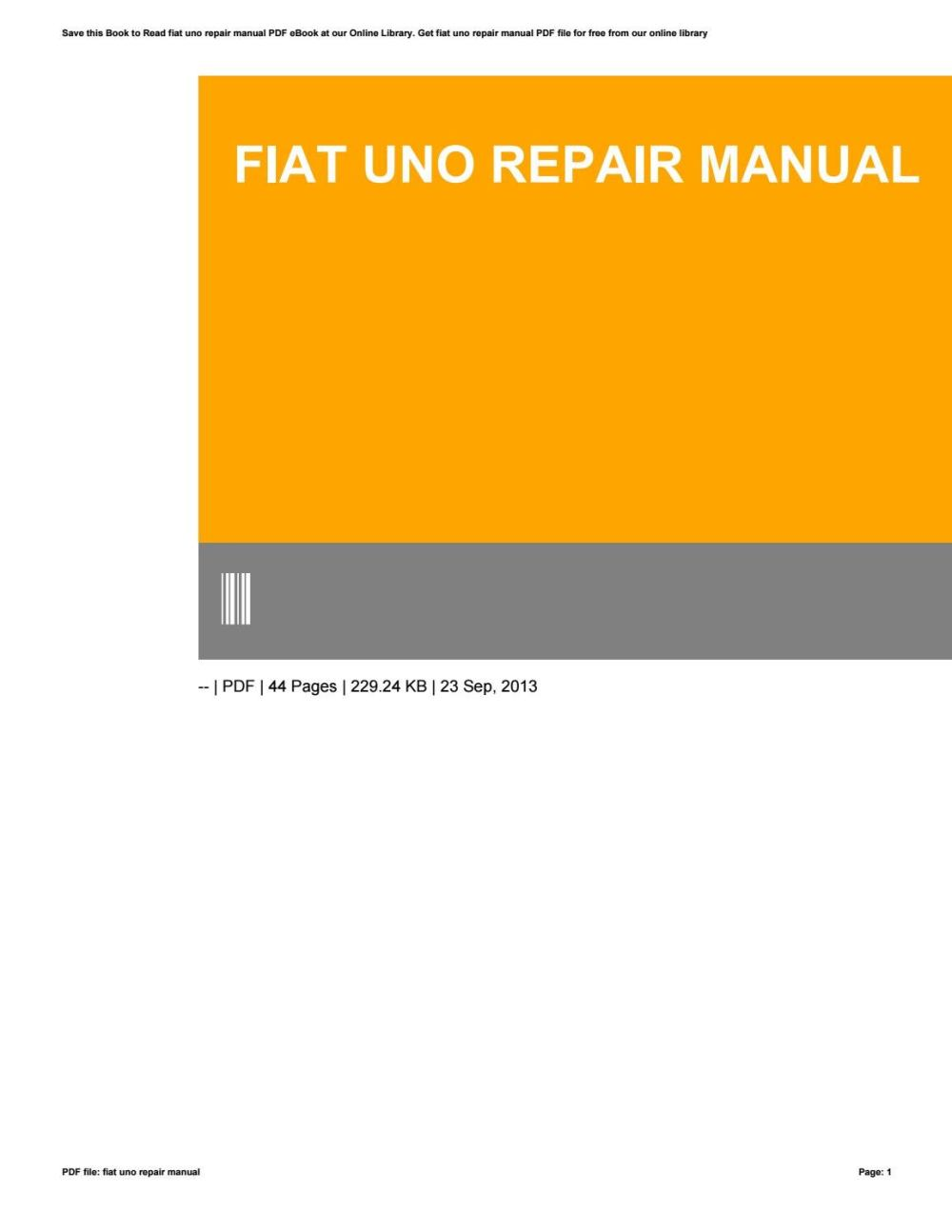 medium resolution of fiat uno manual free download