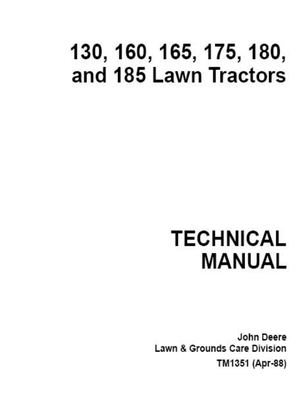 hight resolution of  john deere 185 hydro manual by razvan alexa issuu on john deere 4100 electrical diagram