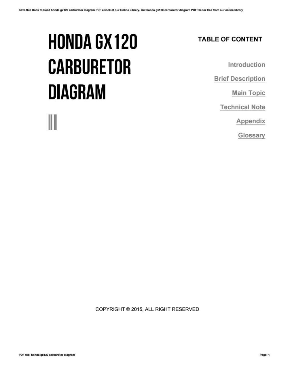 medium resolution of honda carburetor diagram